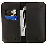 Кажаный чехол-кошелек Valenta (C128322UN) для телефонов до 5.5 дюймов Коричневый, фото 3
