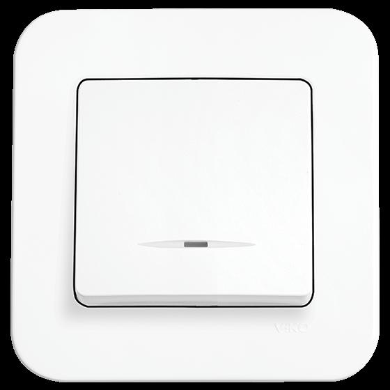 Выключатель с подсветкой Viko Rollina белый (90420019)