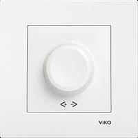 Диммер поворотный 600W RL Viko Karre белый (90960020)