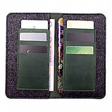 Чохол-гаманець Valenta шкіряний універсальний Green (115369xlt), фото 2