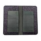 Чохол-гаманець Valenta шкіряний універсальний Green (115369xlt), фото 4