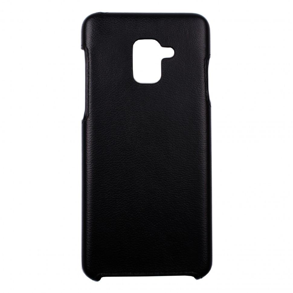 Панель Valenta кожаная для Samsung Galaxy A8 Plus 2018 Black (122111sga8p18)
