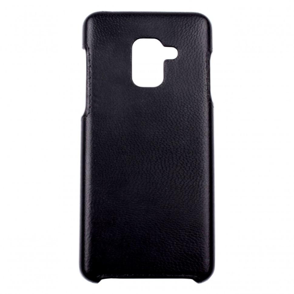 Панель Valenta шкіряна для Samsung Galaxy A8 2018 Black (122111sga818)