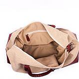 Сумка дорожня Valenta тканина + шкіра Коричнева (ВМ70622710), фото 6