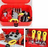 Дитячий ігровий набір інструментів у валізі | Портативний рюкзак Toy Tool Toy | ІГРОВИЙ НАБІР ДЛЯ ХЛОПЧИКІВ, фото 3