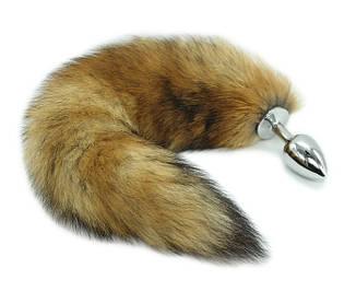 Анальна пробка з хвостиком Fluffy Tail