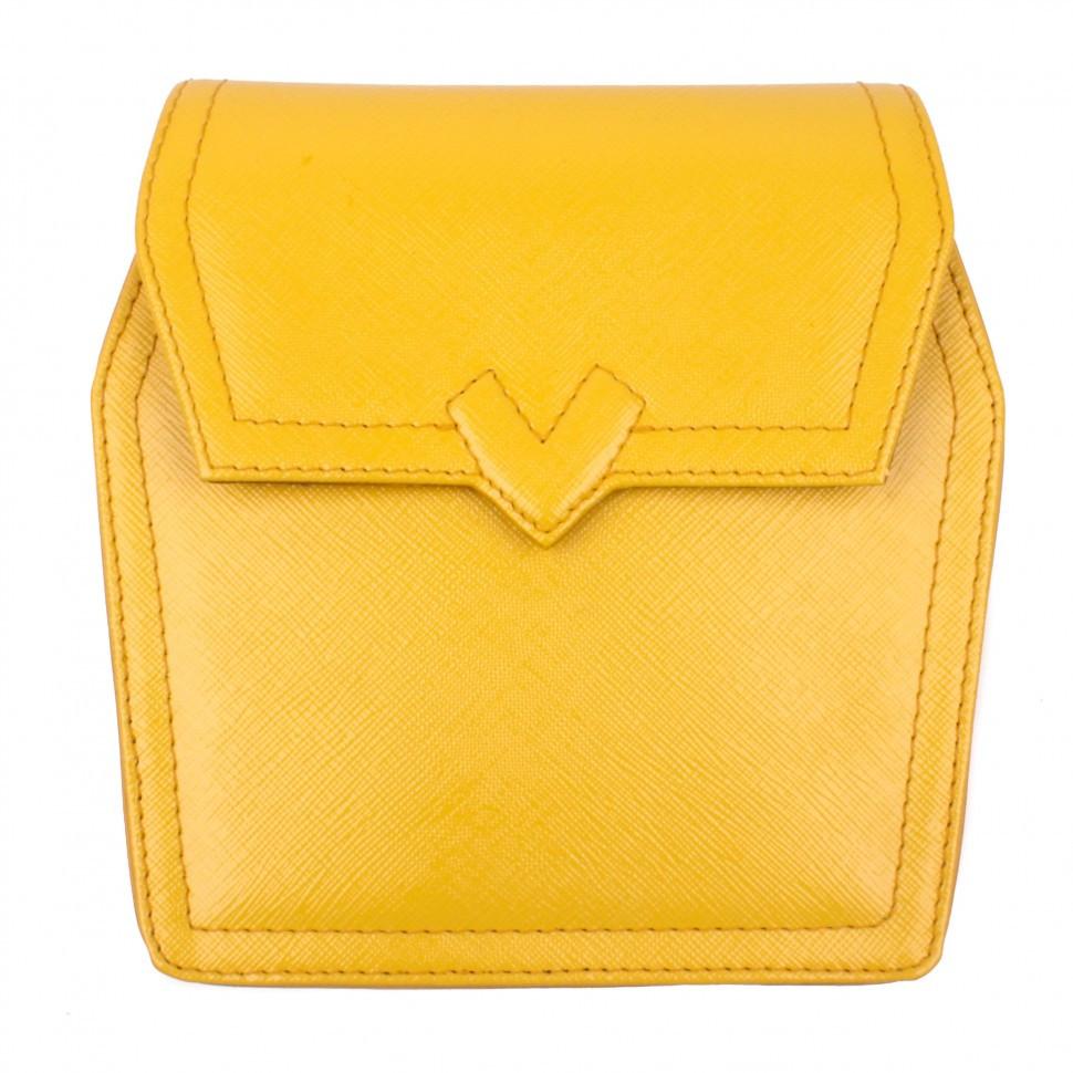 Сумка жіноча Valenta шкіряна Жовта (ВЕ61582419)