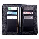 Кошелек c карманом для телефона Valenta кожаный Синий (1153612XL), фото 4