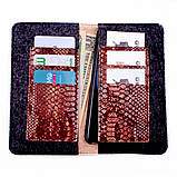 Кошелек c карманом для телефона Valenta кожаный Коричневый (11531610xl), фото 7
