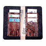 Кошелек c карманом для телефона Valenta кожаный Коричневый (11531610xl), фото 8