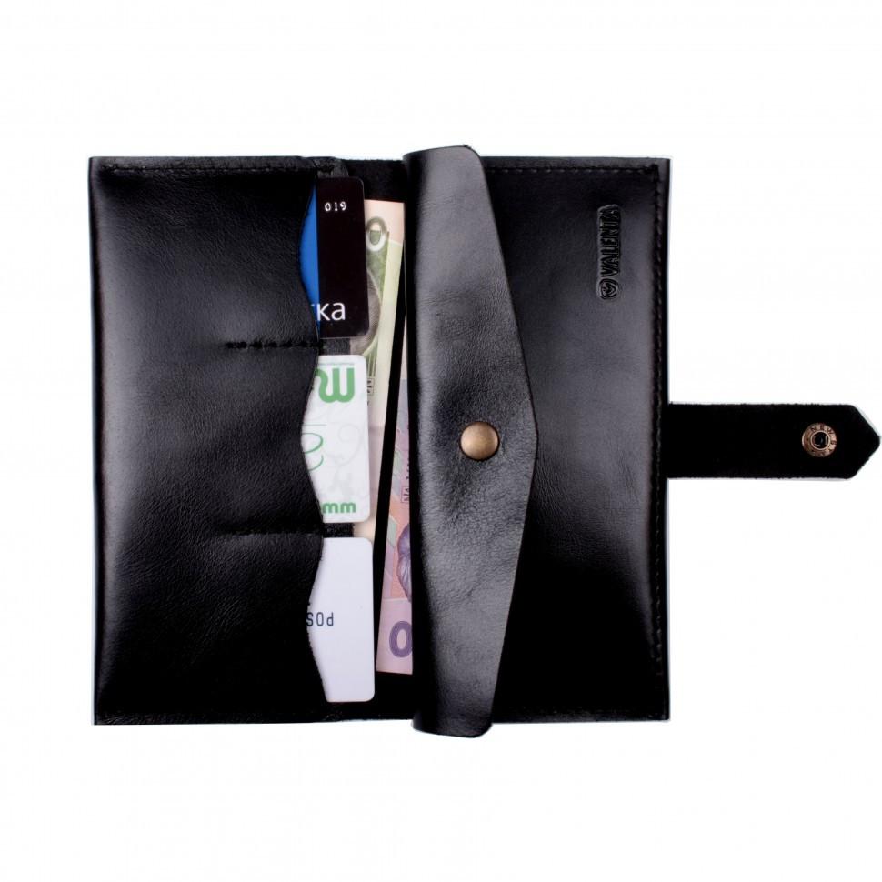 Кошелек Valenta кожаный Черный (ХР174331)