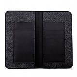 Чохол-гаманець Valenta універсальний Black (115361XL), фото 3