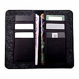 Чохол-гаманець Valenta універсальний Black (115361XL), фото 4
