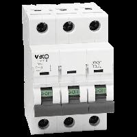 Автоматический выкл. VIKO 3P, 20A, 4,5kA (4VTB-3C20)