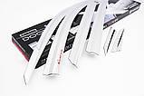 Дефлекторы окон, ветровики хромированные Hyundai Tucson 2015-2020 (Autoclover D623), фото 9
