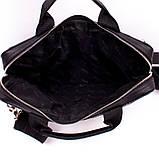 Сумка для ноутбука 13 дюймів Valenta шкіряна Чорна (ВХ2381381), фото 5