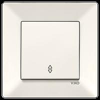 Выключатель проходной Viko Meridian кремовый (90970204-WH)