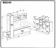 """Вітальня """"Box Глянець Білий / Чорний Глянець"""" BOX-V1, фото 2"""