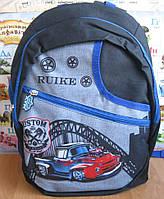 Детский рюкзак с машиной. Рюкзак для мальчика. Школьный рюкзак первокласснику