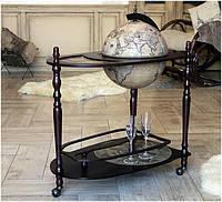 Глобус бар напольный коричневый 33035N со столиком