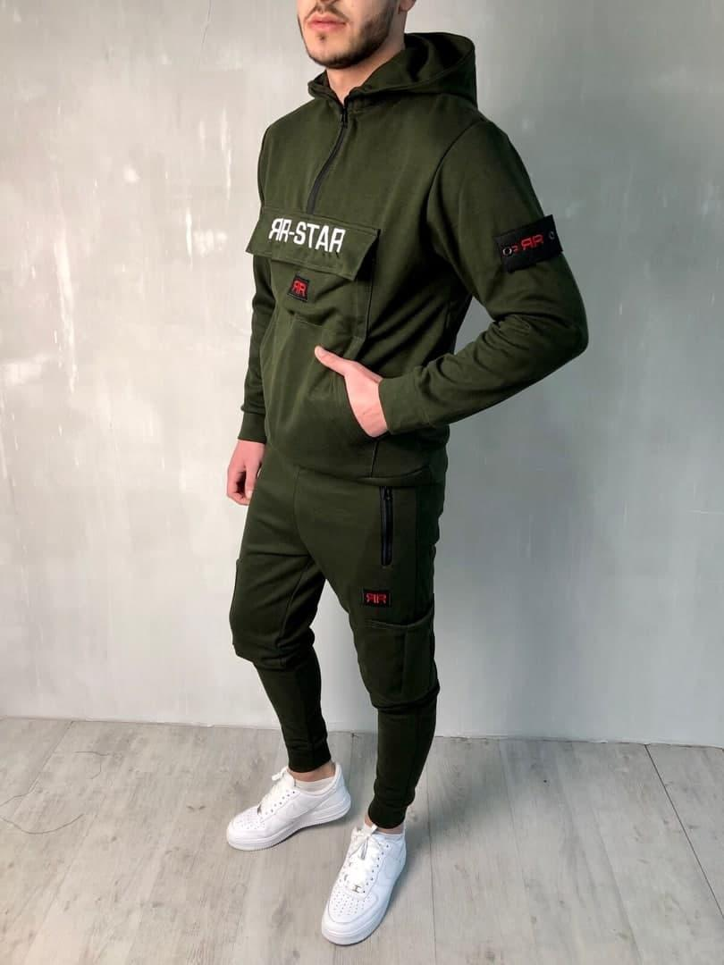 Мужской спортивный костюм Star хаки