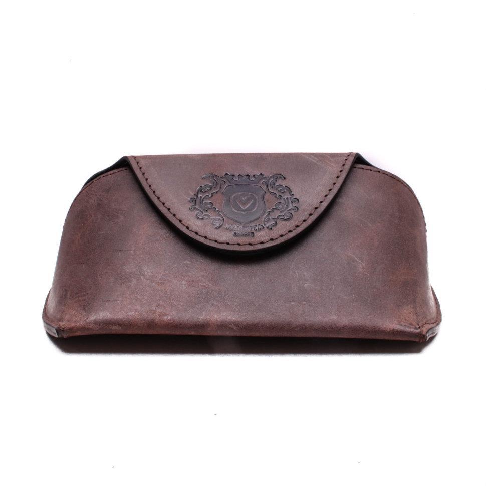 Футляр для очков Valenta кожаный Коричневый (О1610)