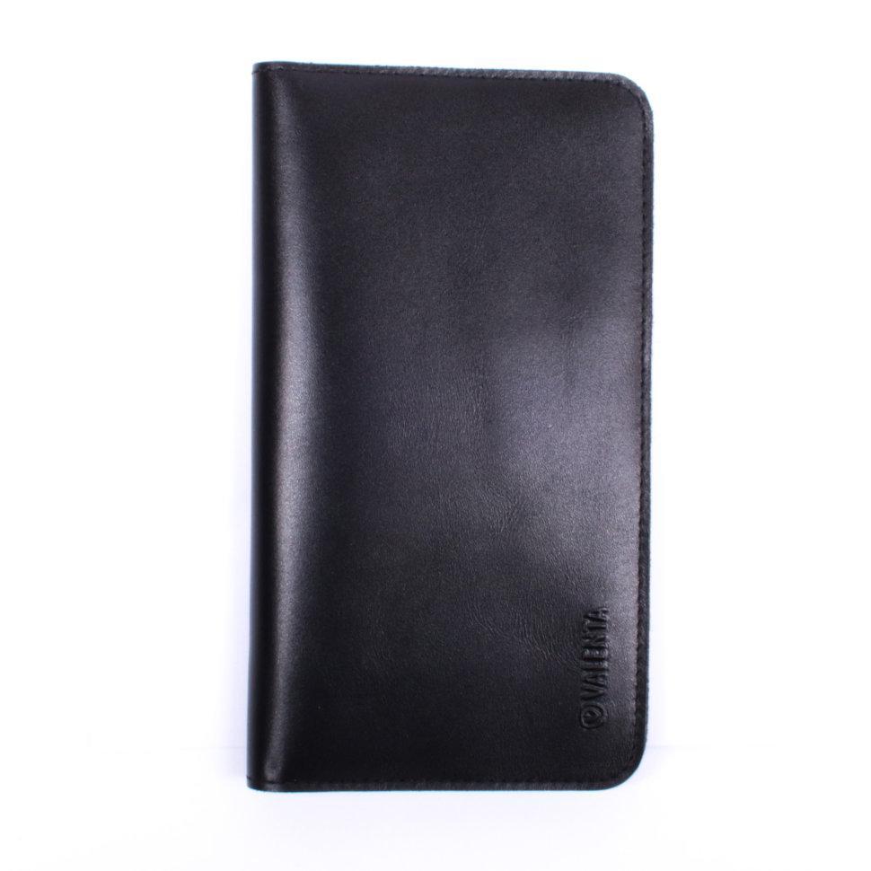 Гаманець c кишенею для телефону Valenta шкіряний Чорний (1153541xl)