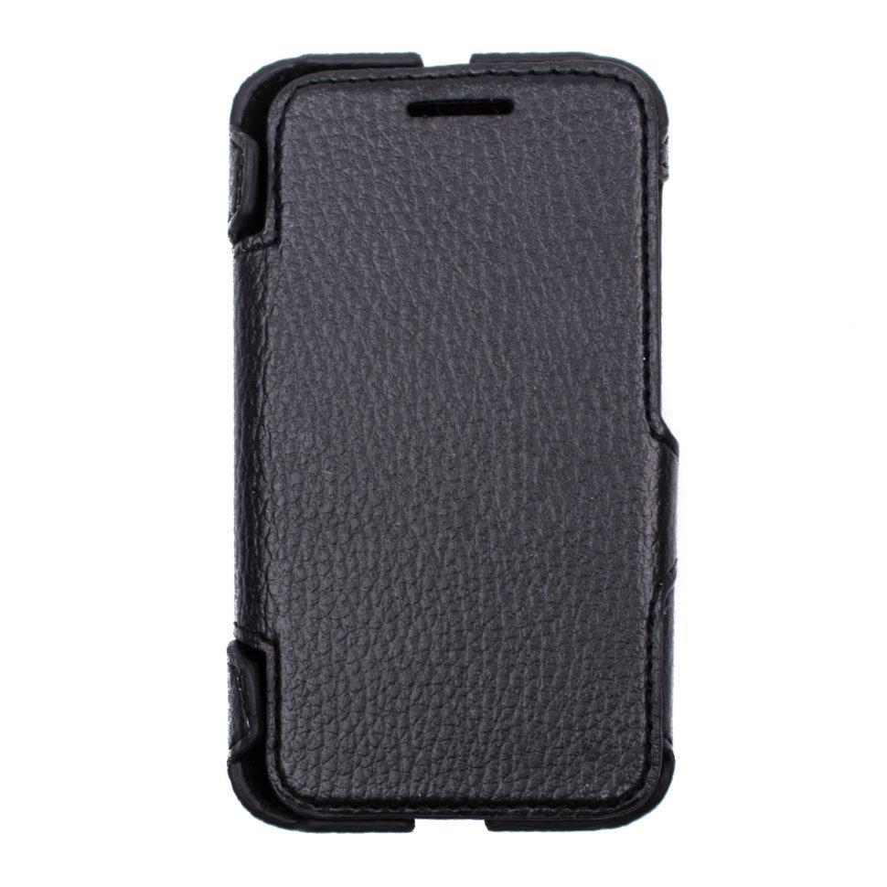 Чехол-книжка Valenta для Alcatel One Touch 4009D Black (1231521a4009)