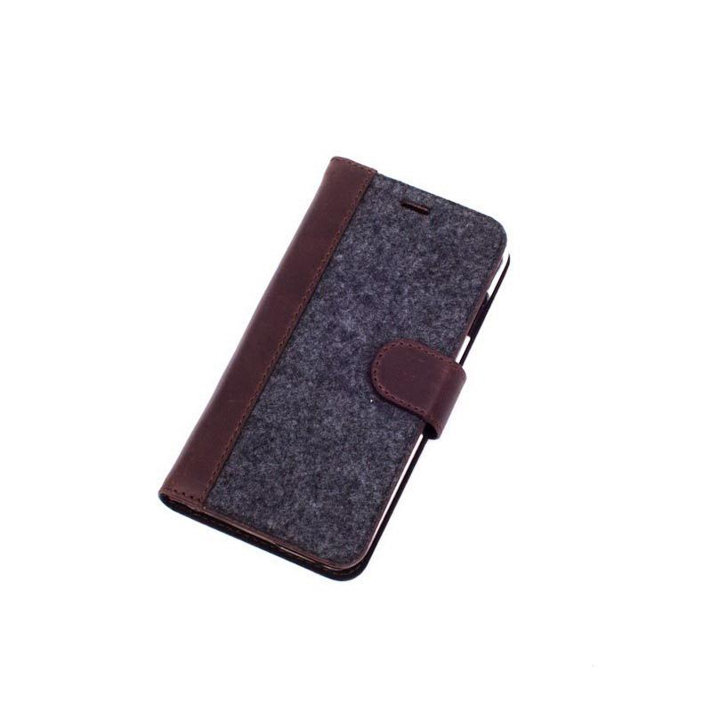 Чохол-книжка Valenta з фетром для Apple iPhone 6/6S Brown (1183610i6)