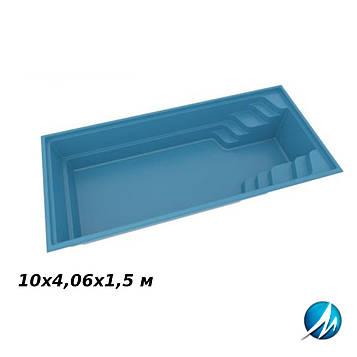 Стекловолоконная чаша FUN 100, 10х4,06х1,5 м