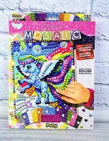 Блискуча мозаїка Glitter Mosaic Поні БМ-03-06 Danko-Toys Україна