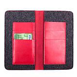 Кошелек c карманом для телефона Valenta кожаный Красный (1153543xl), фото 3