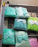 Конверт-одеяло с бубонами зима