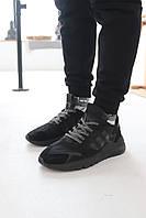 Кроссовки Adidas Nite Jogger Black Адидас Найт Джоггер Чёрные (41,42,43,44,45), фото 1