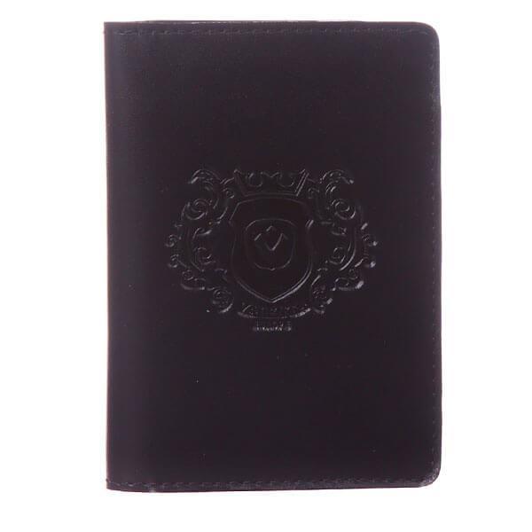 Обложка для водительских документов Valenta кожаная Черная (ОУ170541)