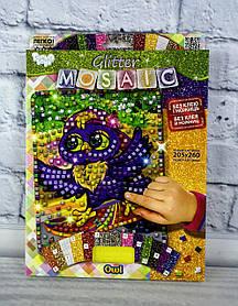 Блискуча мозаїка Glitter Mosaic Сова БМ-03-04 Danko-Toys Україна