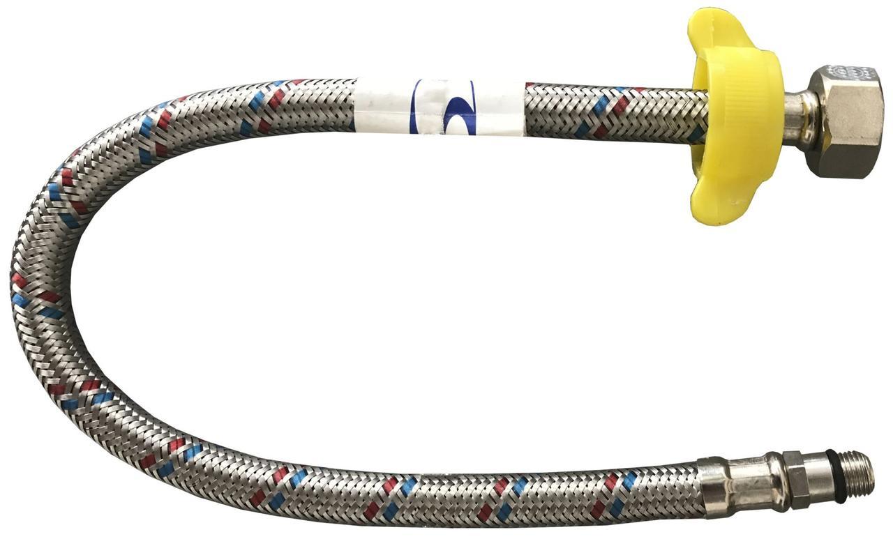 """Шланг для змішувачів Solomon HY6201 В М10х1/2"""" 0,6 м короткий штуцер"""