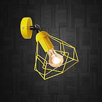 Светильник поворотный на 1-лампу RUBY/LS  E27 бра желтый, фото 1