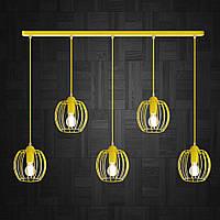 Подвесная люстра на 5-ламп BARREL-5 E27 желтый, фото 1
