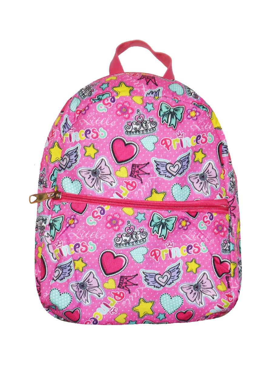 Рюкзачок красивый девочкам с рисунком малиновый
