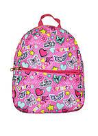 Рюкзачок красивий дівчаткам з малюнками малиновий
