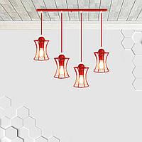 Подвесная люстра на 4-лампы SANDBOX-4 E27 красный, фото 1