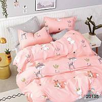 Постельное белье полуторное розовое ТМ Вилюта ранфорс подростковый 20135
