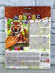 Блискуча мозаїка Glitter Mosaic Тигр БМ-03-03 Danko-Toys Україна