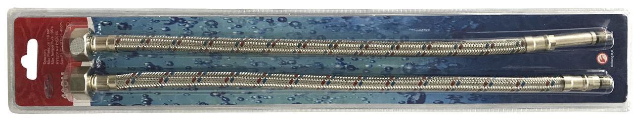 """Шланги для змішувачів Solomon HY6201 A+B М10х1/2"""" 0,6 м ПАРА в блістері"""
