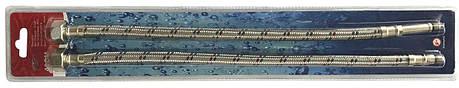 """Шланги для змішувачів Solomon HY6201 A+B М10х1/2"""" 0,6 м ПАРА в блістері, фото 2"""