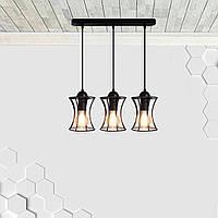 Подвесная люстра на 3-лампы SANDBOX-3 E27 чёрный, фото 1