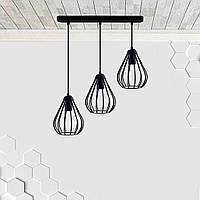 Подвесная люстра на 3-лампы FANTASY-3 E27 чёрный, фото 1