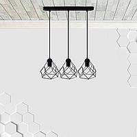 Подвесная люстра на 3-лампы RUBY-3 E27 чёрный, фото 1