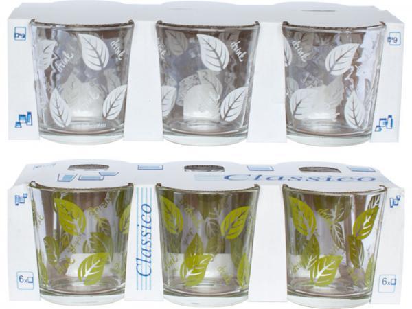 """Набір стаканів скло """"Drink"""" (6шт) 250мл mix 86004035/05c1249/Галерея"""